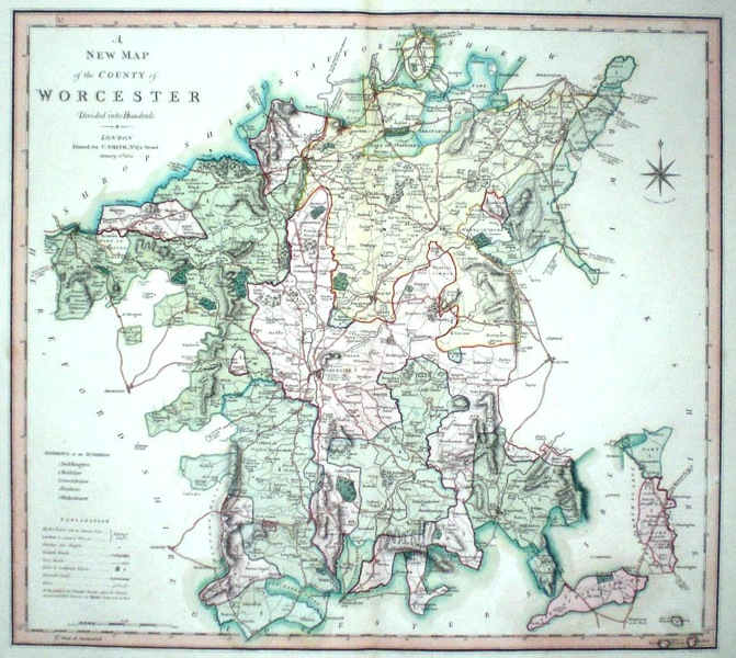 Antique Maps of Worcestershire