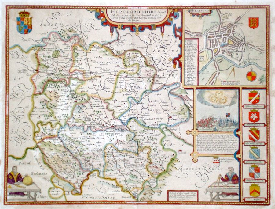 Antique Maps of Herefordshire