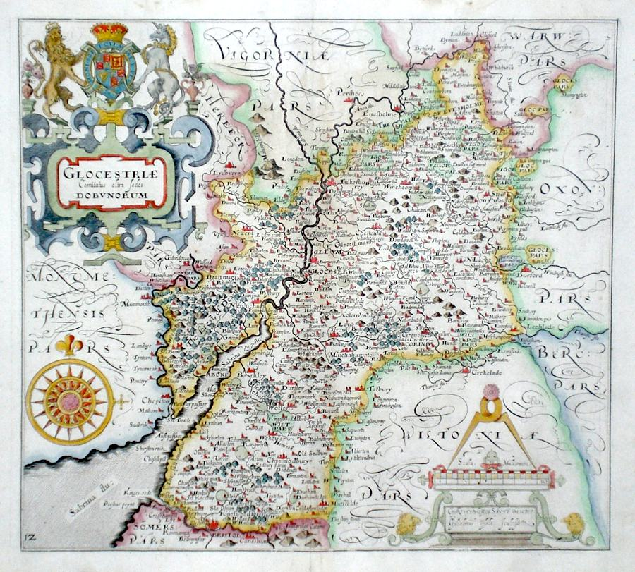 Antique Maps of Gloucestershire