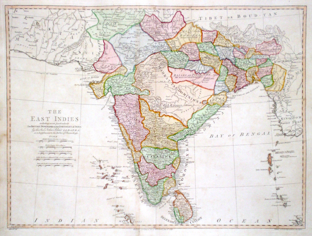 Antique maps of india india freerunsca Image collections