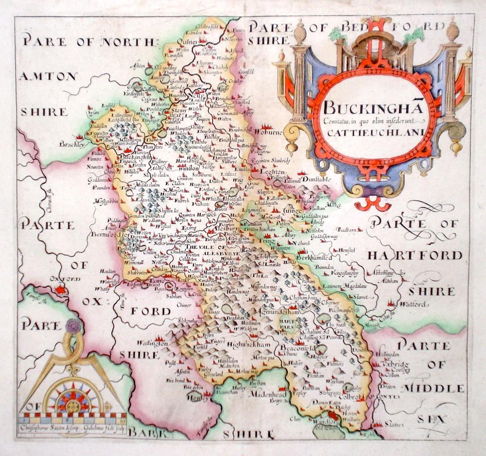 Antique Maps of Buckinghamshire