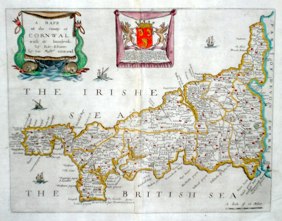 Map Of England 2100.Antique Maps Of Cornwall